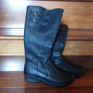 Keen Black Tall Leather Boots